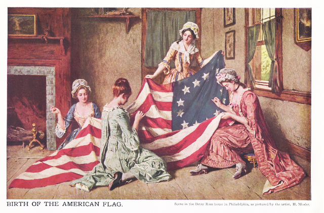Betsy ross birth of the american flag