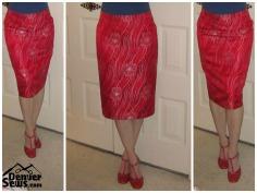 Burda Pencil Skirt Silk