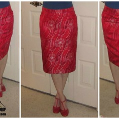 Burda Pencil Skirt Silk