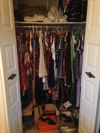 Project 333 Before Closet