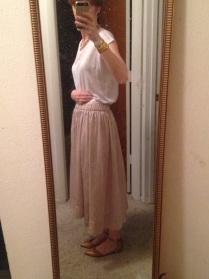 Pink champagne elastic skirt