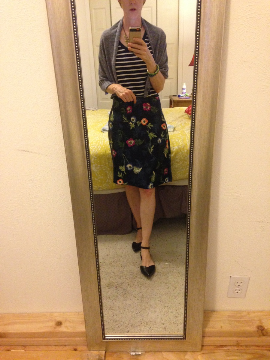 Self drafted skirt & wrap
