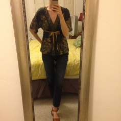 Thrift shop blouse