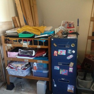 organizing sewing room