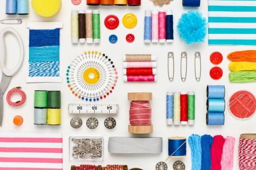 Organzing sewing room