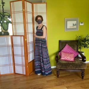 vogue 8893 vintage maxi dress