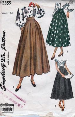 vintage circle skirt